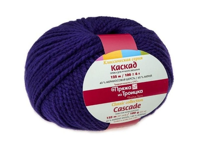 Troitsk Wool Cascade, 40% wool, 60% acrylic 10 Skein Value Pack, 1000g фото 2