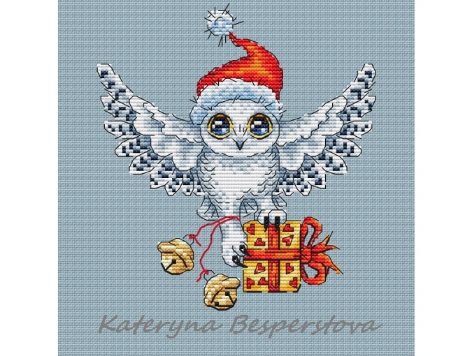 Owl Polar Mail Cross Stitch Pattern фото 1