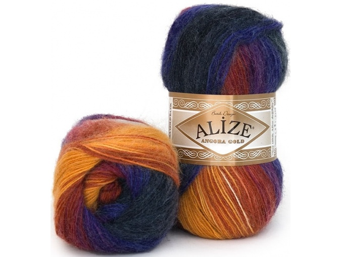 Alize Angora Gold Batik, 10% mohair, 10% wool, 80% acrylic 5 Skein Value Pack, 500g фото 30