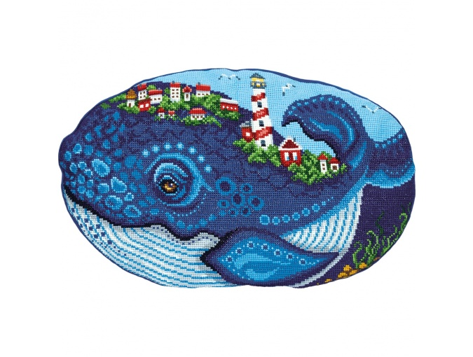 Whale Cushion Front Cross Stitch Kit фото 1