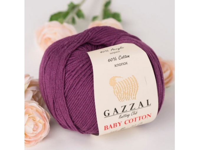 Gazzal Baby Cotton, 60% Cotton, 40% Acrylic 10 Skein Value Pack, 500g фото 64