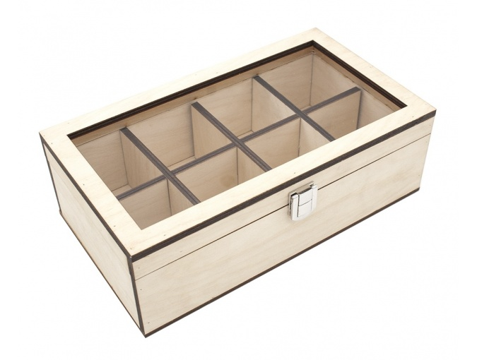 Decorative Wooden Casket, 8 cells фото 1