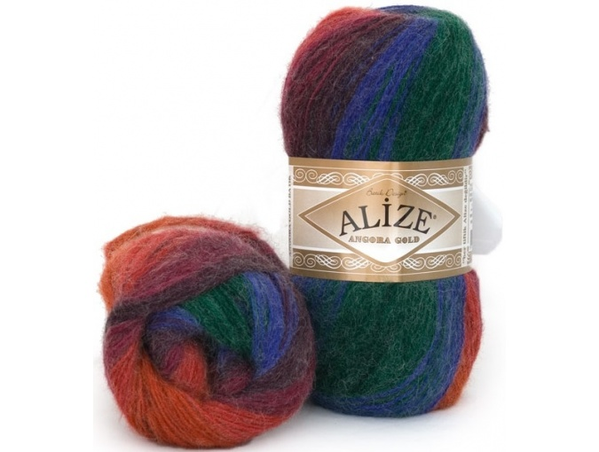 Alize Angora Gold Batik, 10% mohair, 10% wool, 80% acrylic 5 Skein Value Pack, 500g фото 31