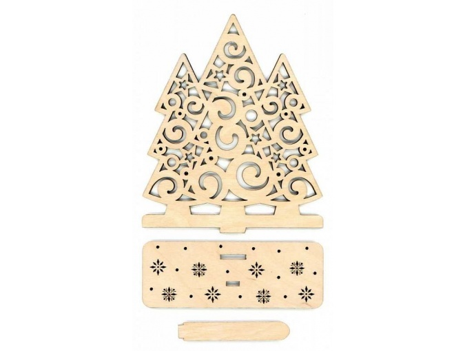 Christmas Trees Wooden Stand фото 1