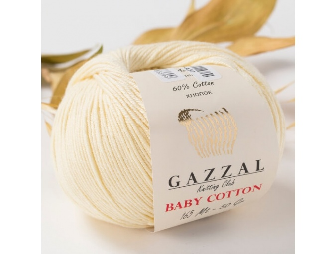 Gazzal Baby Cotton, 60% Cotton, 40% Acrylic 10 Skein Value Pack, 500g фото 56