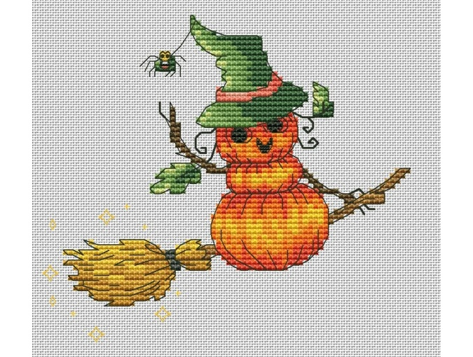 Witches' Broom Cross Stitch Pattern фото 1