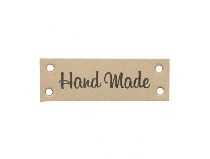 "Leather Sewing Label ""Hand Made"", 4pcs фото 2"
