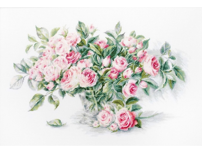Bouquet of Pink Roses Cross Stitch Kit фото 1