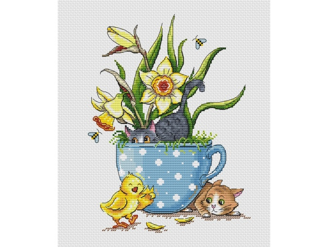 Ginger & Ash - April Cross Stitch Pattern фото 1