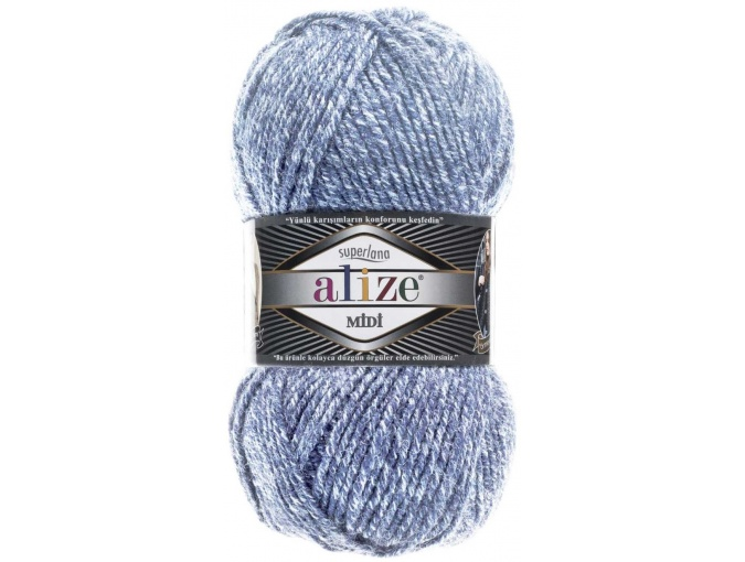 Alize Superlana Midi 25% Wool, 75% Acrylic, 5 Skein Value Pack, 500g фото 47