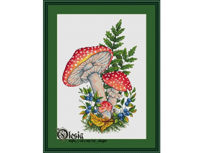 Fly-agarics Cross Stitch Pattern фото 1