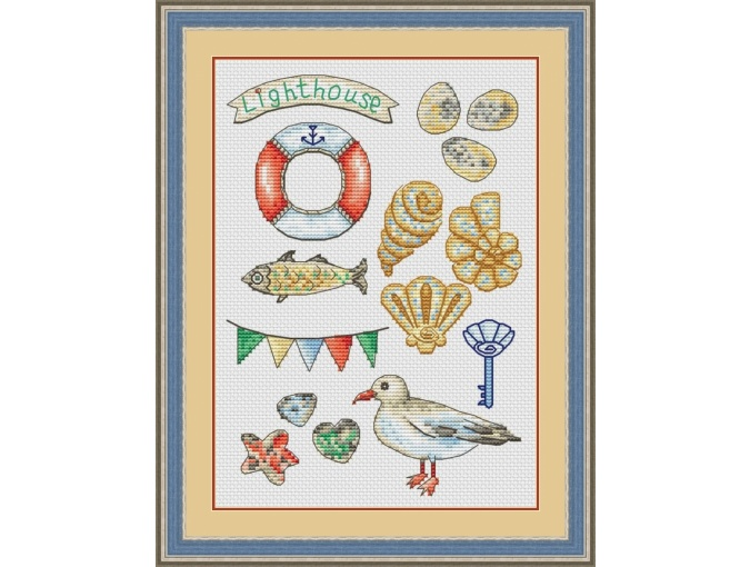Seaside Sampler Cross Stitch Pattern фото 1
