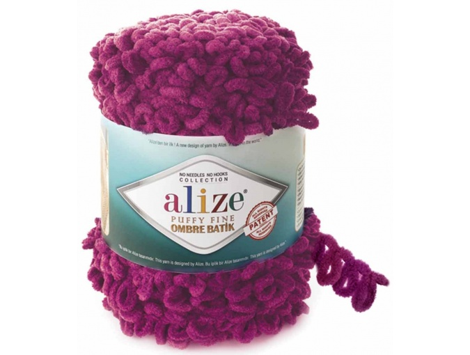 Alize Puffy Fine Ombre Batik, 100% Micropolyester 1 Skein Value Pack, 500g фото 11