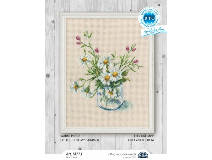 Warm Peace of the Bloomy Summer 3 Cross Stitch Kit фото 2