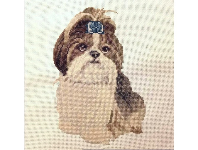 Shih Tzu Cross Stitch Pattern фото 2