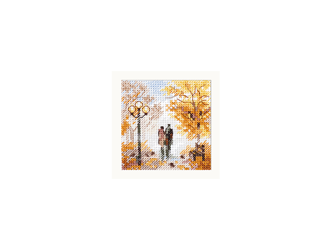 Autumn in the City. Old Park Cross Stitch Kit фото 1