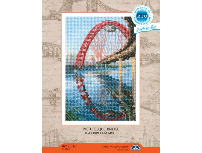 Picturesque Bridge Cross Stitch Kit фото 2