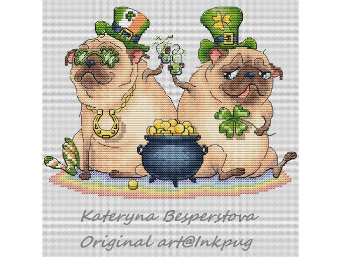 St. Patrick's Day Cross Stitch Pattern фото 1