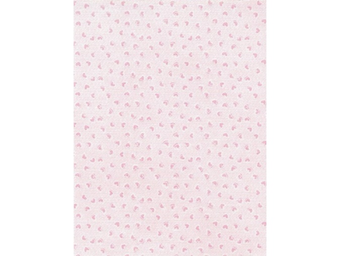 18 Count Aida Designer Fabric by MP Studia Pink Hearts фото 1