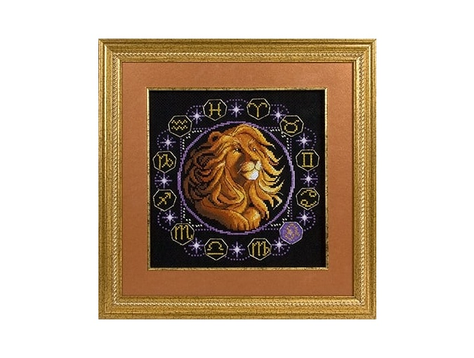 Zodiac signs. Leo Cross Stitch Kit фото 2