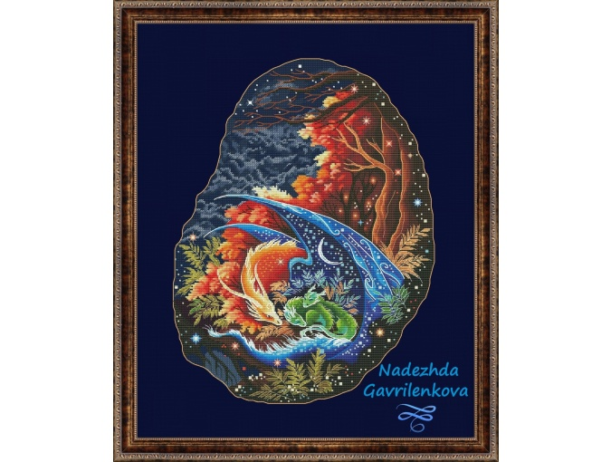 Dragon Mother's Care Cross Stitch Pattern фото 1