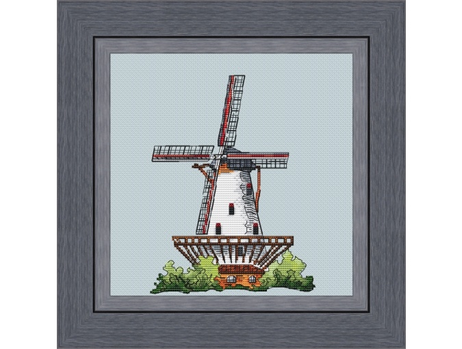 Mill at Schouwen Duiveland Cross Stitch Pattern фото 1