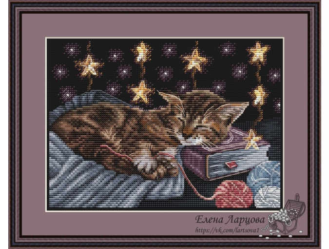 Cat Dreams Cross Stitch Pattern фото 1