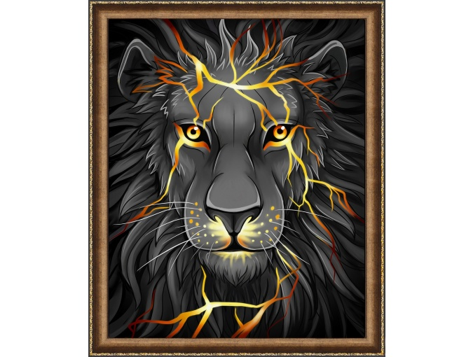 Lava Lion Diamond Painting Kit фото 1
