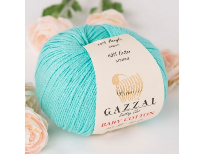 Gazzal Baby Cotton, 60% Cotton, 40% Acrylic 10 Skein Value Pack, 500g фото 86