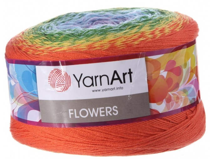 YarnArt Flowers, 55% Cotton, 45% Acrylic, 2 Skein Value Pack, 500g фото 13