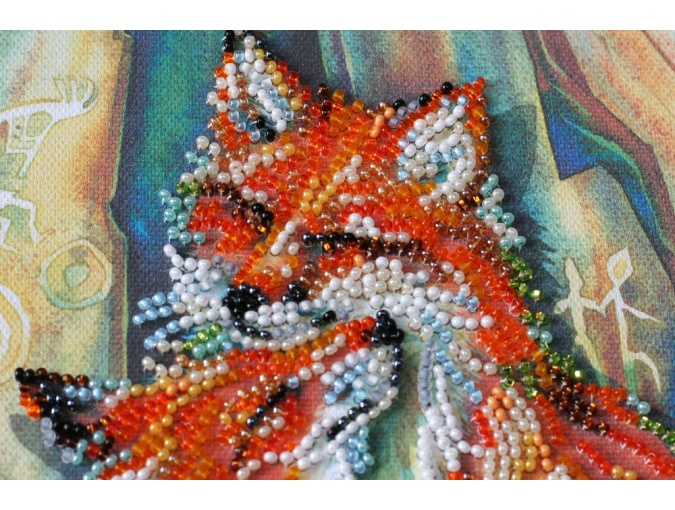 Small Foxes Bead Embroidery Kit фото 2