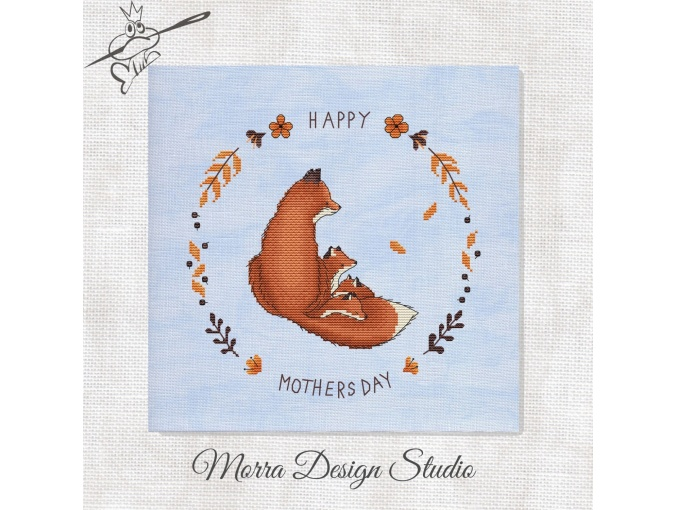 Happy Mothers Day Cross Stitch Pattern фото 1