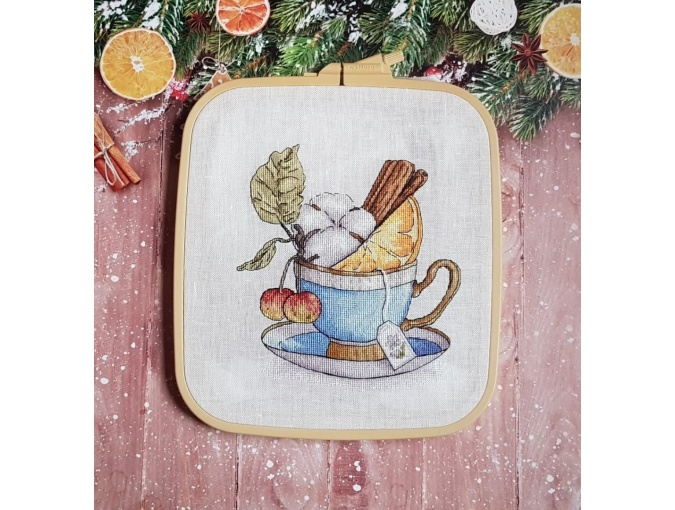 Winter Tea Cross Stitch Chart фото 3
