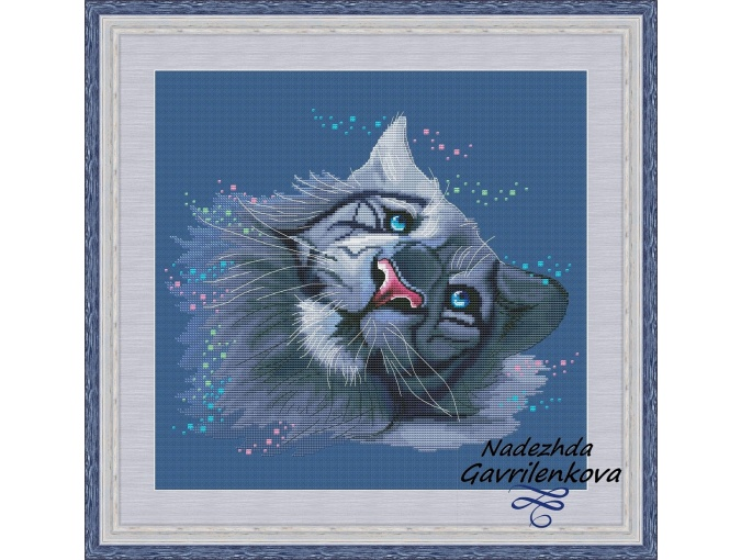 Snow Tiger Cross Stitch Pattern фото 1