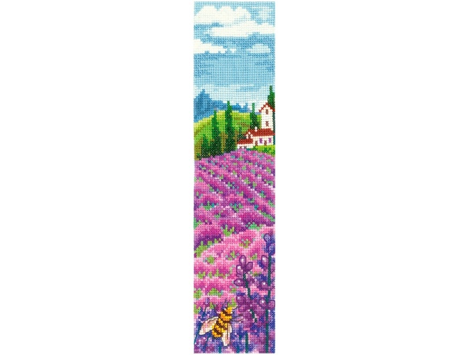 Bookmarks. Lavender Fields Cross Stitch Kit фото 1