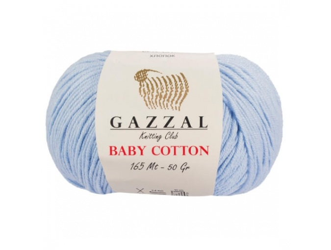 Gazzal Baby Cotton, 60% Cotton, 40% Acrylic 10 Skein Value Pack, 500g фото 40