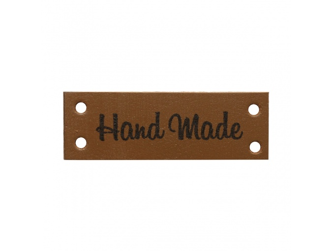 "Leather Sewing Label ""Hand Made"", 4pcs фото 4"