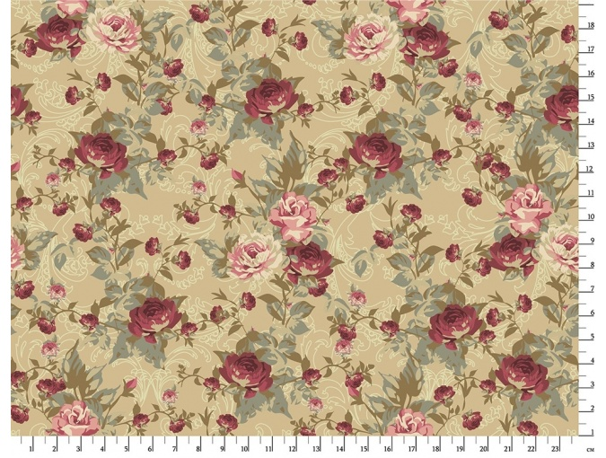 Fat Quarter Peppy, print VR-29 Green фото 1