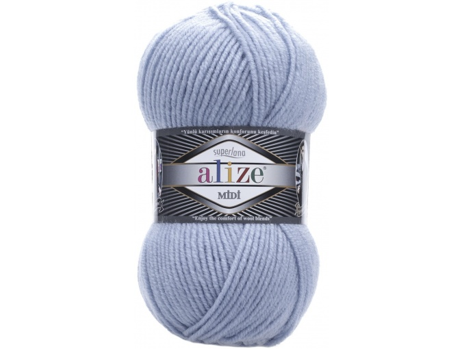 Alize Superlana Midi 25% Wool, 75% Acrylic, 5 Skein Value Pack, 500g фото 31