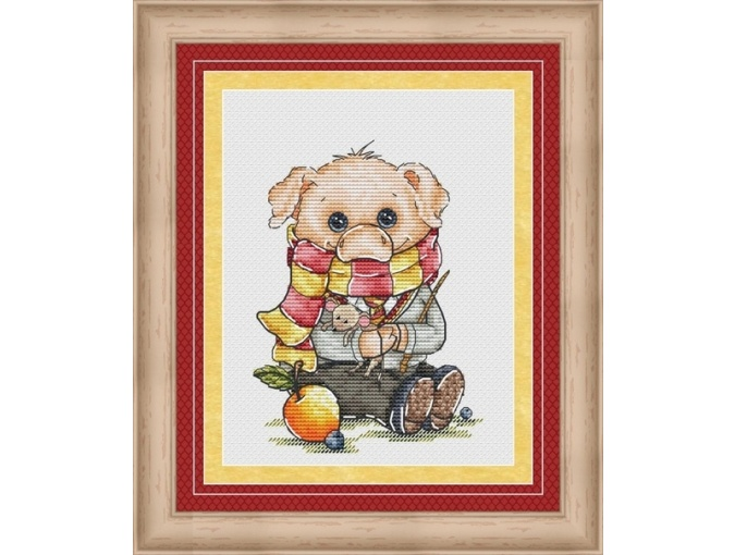 Pigsley Cross Stitch Pattern фото 1