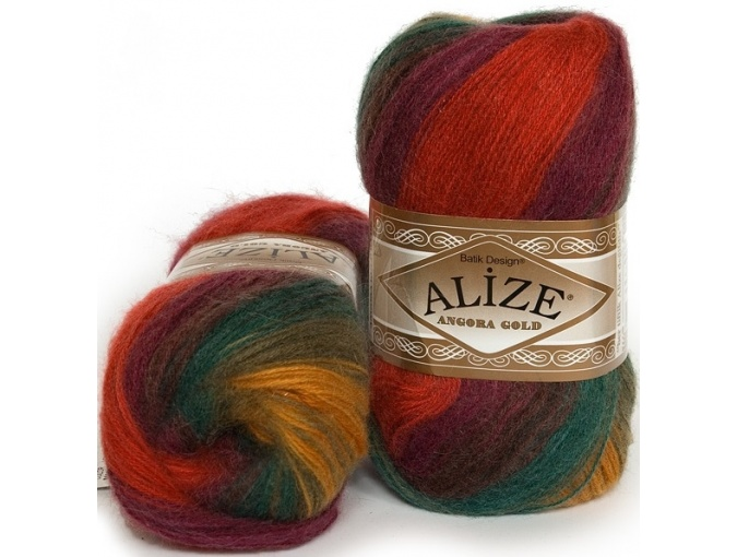 Alize Angora Gold Batik, 10% mohair, 10% wool, 80% acrylic 5 Skein Value Pack, 500g фото 16