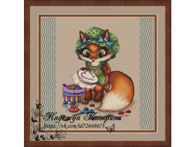 Fox Needlewoman Cross Stitch Pattern фото 1