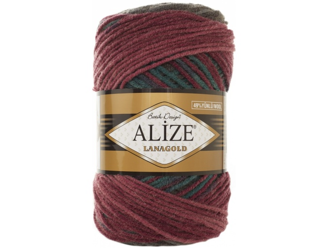 Alize Lanagold Batik 49% Wool, 51% Acrylic, 5 Skein Value Pack, 500g фото 16