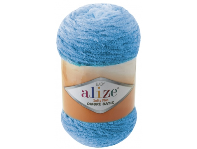 Alize Softy Plus Ombre Batik, 100% Micropolyester 1 Skein Value Pack, 500g фото 2