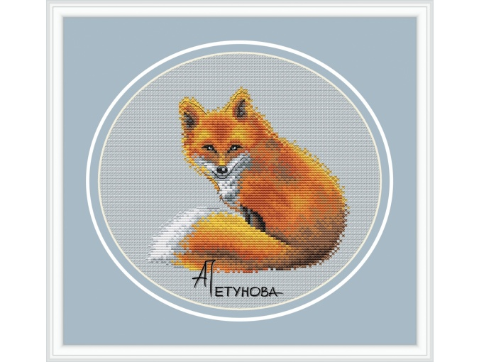 Fox Cub Cross Stitch Pattern фото 1