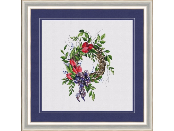 Breath of Spring Wreath Cross Stitch Pattern фото 1