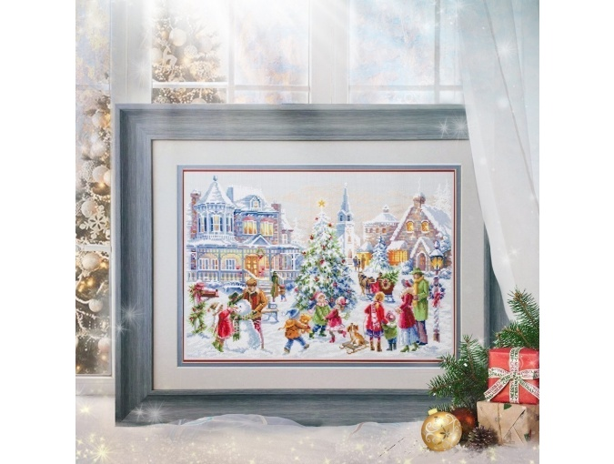 Christmas Eve Cross Stitch Kit by Magic Needle фото 4