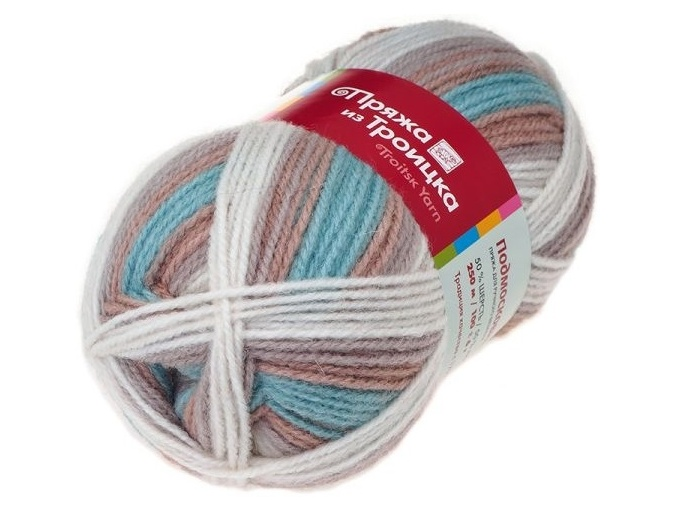 Troitsk Wool Countryside Print, 50% wool, 50% acrylic 10 Skein Value Pack, 1000g фото 65