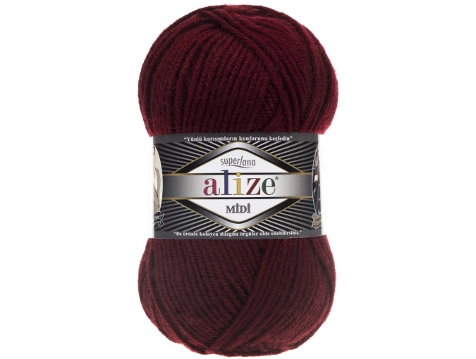 Alize Superlana Midi 25% Wool, 75% Acrylic, 5 Skein Value Pack, 500g фото 10