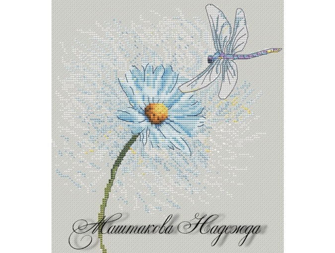 Dragonfly Cross Stitch Pattern фото 1